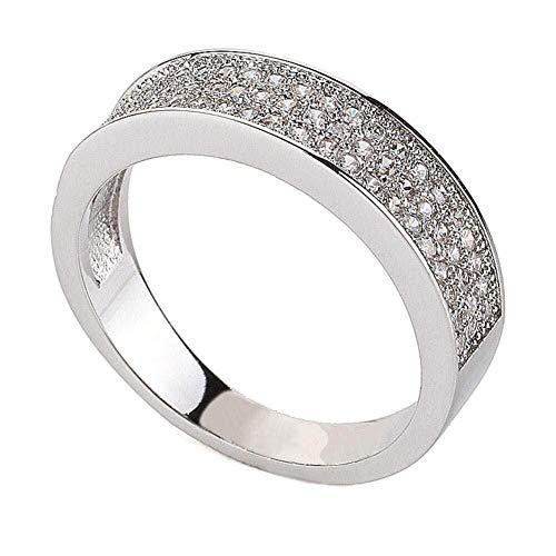 WUTOLUOHANS Ring for Damen mit Full Diamond Bling Accessoires (Color : I, Größe : 8#) Full Diamond Bling