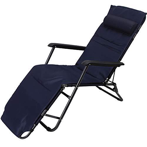 Sedia da giardino in metallo pieghevole a sdraio e reclinabile