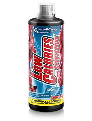 IronMaxx Low Calories Sportsdrink, Kirsche - Kalorienarmes Sportgetränk mit Carnitin, Vitamin B & Nährstoffen für eine vitalisierende & erfrischende Wirkung - 1er Pack (1 x 1 l) -