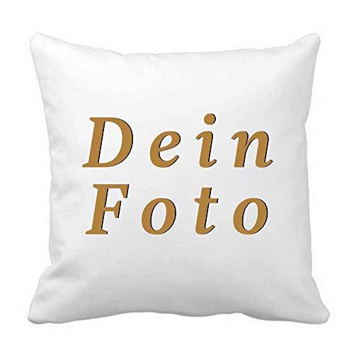 Hardon Personalisiertes Kissen Hülle mit Foto Oder Text, Custom Zierkissenbezüge Fotokissen Hülle,Fotogeschenk zum Geburtstag oder Jahrestag(Kurzer Plüsch,45X45 cm)