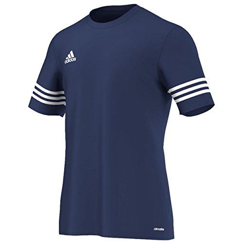 Adidas Entrada 14, Herren-Fußballshirt, kurzärmelig Größe L Navy / Weiß (Dri-fit-puma)