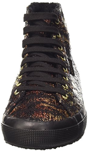 Superga Damen 2795-Paiwanimals Sneaker Mehrfarbig - Multicolore (904 Black-Gold)