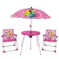 097b19c066 URBN Toys - Set da Picnic e Giardino per Bambini, ombrellone, Tavolo e 2  sedie
