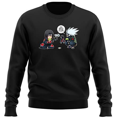 Pull Noir Naruto parodique Kakashi et Itachi : Combat de Ninjas ! (Parodie Naruto)