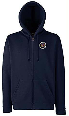 US NSA Spy Agency Embroidered Logo - Zipped Hoodie Jacket By Military Online
