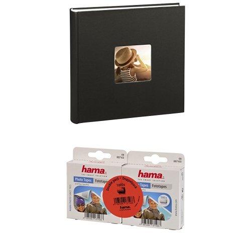 Hama Jumbo Fotoalbum Fine Art, 100 Seiten, schwarz + Hama Fototapes, selbstklebend, 1000 Stück, transparent
