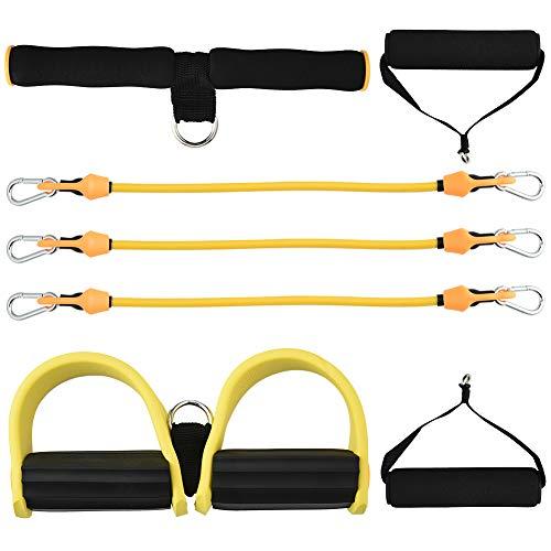 für Fußpedal, Bauch, Arm, Beine, dehnbar, Abzieher für Yoga, Sport, geeignet für Verwendung im Innen- und Außenbereich gelb ()