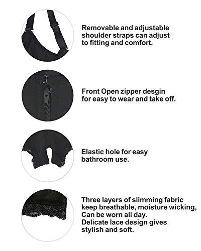 YIANNA Women Body Shaper Seamless Firm Control Shapewear Open Bust Bodysuit Slimmer