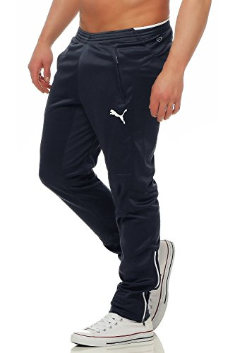 Puma Herren Trainingshose, new navy-White, S, 653824 06 - Sweat Jungen Anzüge
