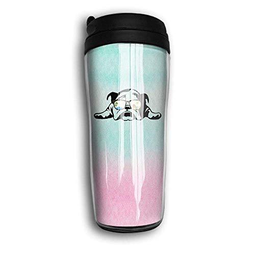 Bulldog Sunglass Vacation Mode Premium Travel Cups Coffee Mug With Lid