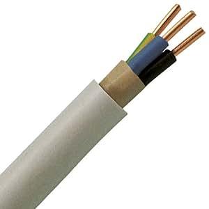 Kopp 150810841 Mantel-Leitung NYM-J, 3 x 1.5 mm², 10 m, grau
