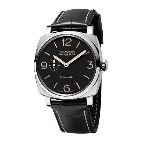 Panerai-Radiomir-1940-Herren-Armbanduhr-45mm-Armband-Leder-Schwarz-Gehuse-Edelstahl-Automatik-PAM00572