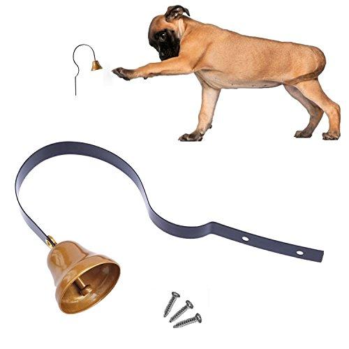 comsmart Messing Hund Bell Töpfchen Training Bell Klingel für die Stubenreinheit & Training und Erziehung (Töpfchen Hund Bell)