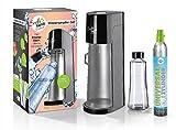 Soda Trend 06279 Wassersprudler Deluxe, schwarz inkl. Glasflasche 720ml u. CO2 Zylinder 60l |...