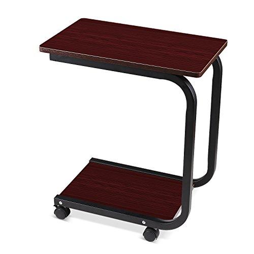 HOMFA Laptoptisch U Form Notebook Tisch PC Sofatisch Laptopstnder Notebookstnder Pflegetisch Fr Bett Und Sofa Braun 502959cm