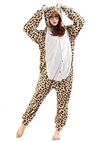 Pijamas Kigurumi Animal Entero Invierno Cosplay Traje Disfraz Adulto Pyjamas Carnaval Halloween Navidad Ropa de Dormir, Leopardo Oso