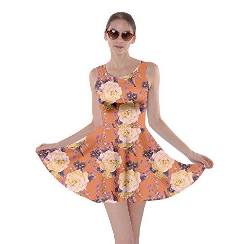 CowCow Damen Kleid Schwarz Schwarz Orange - Orange