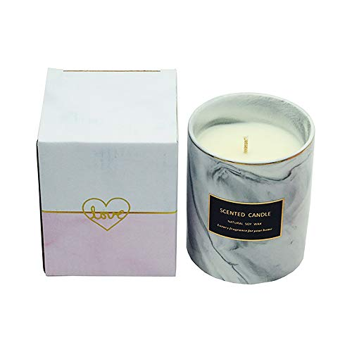 WULAU Duftkerzen, Aromatherapie-Kerze-Geschenk-Sets ätherisches Öl-Bad-Set für Stressabbau und Aromatherapie,Grauer Salbei -