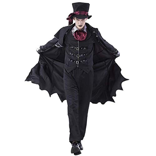 Fuweiencore costumi adulti vampiro donna uomo halloween party vampire coppia cosplay fancy outfit abiti, donne, l (colore : men, dimensione : x-large)