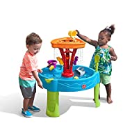 Step 2 COS1185713 Summer Seaside Showers Splash Play Water Table with 12 Accessories, Nylon/A