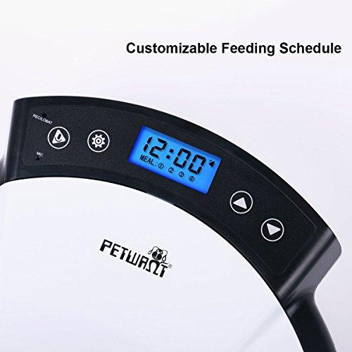 Automatisierte Futterspender, Lebensmittel-Dispenser für Hunde und Katzen – Alarme der Funktionellen Verteilung, Teil Kontrolle & Stimme Aufnahme – Zeitmesser Programmierbar Bis zu 5 Mahlzeiten pro Tag - 2