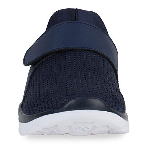 Freizeit Damen Herren Sportschuhe Bequeme Laufschuhe Profil Sohle Marineblau