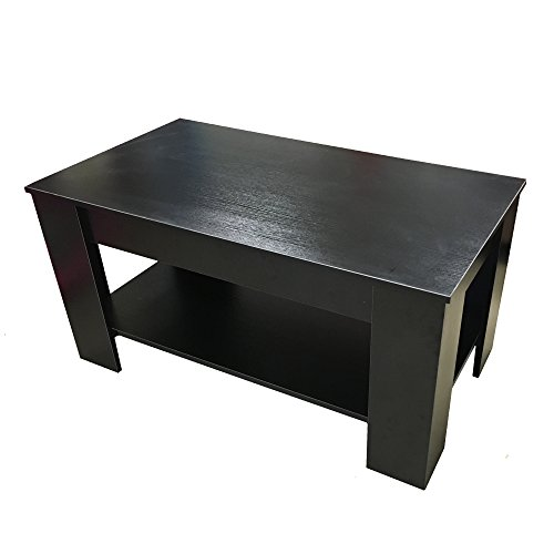 Redstone Coffee Table Black Or Dark Walnut Lift Up Top With Storage Black At Shop Ireland