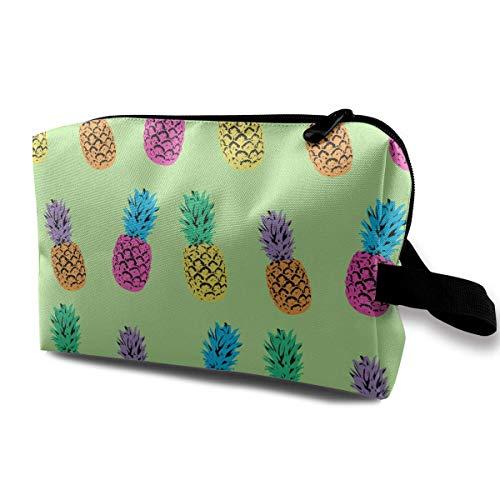 Triple Pineapple Pattern Multifunction Travel Makeup Bags Shaving Kit Buggy Bag Organizers With Zipper -