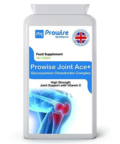 Complesso di Ace + Glucosamina condrotina 500mg / 400mg con compresse di vitamina C 180 - Prodotto nel Regno Unito secondo GMP Qualità garantita - Prowise Healthcare
