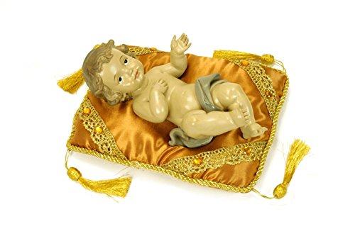 Figura Religiosa Decorativa 'Niño Jesús con Almohada' Esculturas Resina. 16 x 23 x 9 cm.