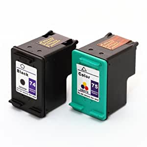HP 74/75 Compatible Ink Cartridges Combo-Pack in Individual Packaging