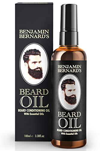 DER SIEGER 17/18/19-100ml Bartöl - Beard Oil für Männer - Für gesundes Bartwachstum & einen gepflegten Stil - Leicht parfümiert, enthält Jojoba- & Mandelöl - Vegane Bartpflege - 100 ml