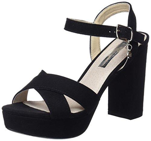 XTI 30751, Zapatos con Tacon y Correa de Tobillo Para Mujer, Negro (Black), 37 EU
