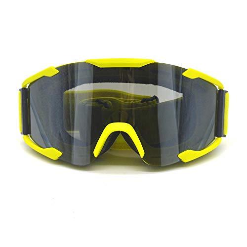 Color Lens Brille Off Road Motocross Brille Brille Motorradbrille Dirt Bike Racing Brille,Gelb (Dirt Getönte Bike Brillen)