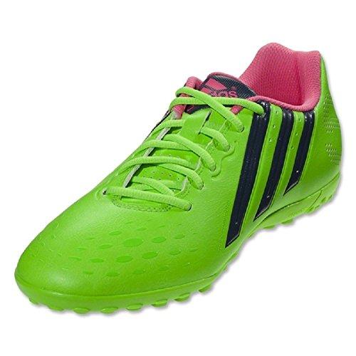 Adidas Freefootball X-ite Crampons Football Turf (Vert solaire), 10,0 D (m) Us, solaire vert / bleu Solar Green/Rich Blue