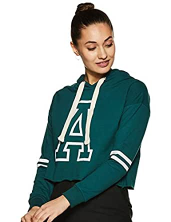 Amazon Brand - Symbol Women's Cotton Sweatshirt (AW18WNSSW07_Forest Green_Small)