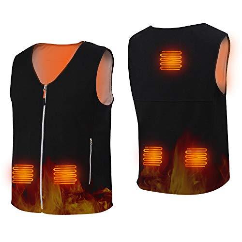 HOPAI Beheizte Weste Elektrische Beheizte Jacke USB Lade Heizweste für Herren Damen, Beheizbare Weste Warm mit 3 Fakultativ Temperatur für Outdoor-Aktivitäten (XXXL)