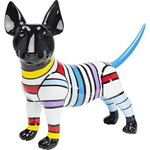 Déco chien bull terrier à rayures 59cm Kare Design