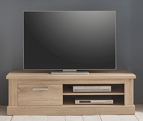 trendteam SYD31645 TV Möbel Lowboard Eiche Sägerau hell Nachbildung, BxHxT 146x45x52 cm - 2
