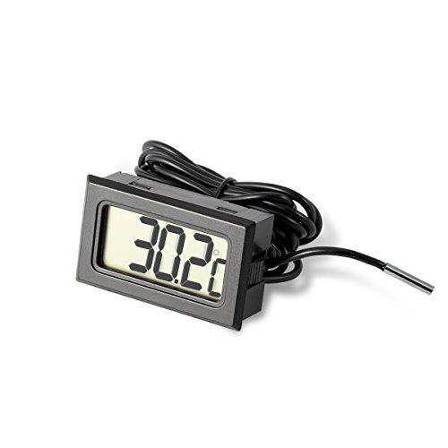 LCD Digital Thermometer mit fühler für Aquarium, Terrarium, Kühl- und Gefrierschrank