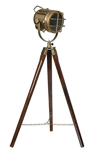 LightenUP Simplistic Antique Tripod Lamp