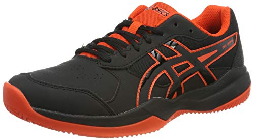 ASICS Gel-Game 7 Clay/OC GS, Scarpe da Tennis Uomo, Multicolore (Black/Cherry Tomato 010), 38 EU