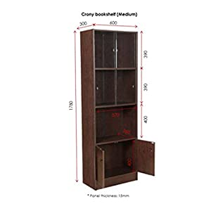 HomeTown Crony Medium Book Shelf (Wenge)