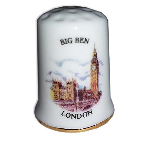 Beautiful Collectable Big Ben, Elizabeth Tower / Westminster / Houses of Parliament / London Clocktower Thimble Souvenir! Souvenir / Speicher / Memoria! Special, Unique British UK Collectable Thimble! Here's a Memorable London Souvenir! Dé à Coudre / Fingerhut / Ditale / Dedal!