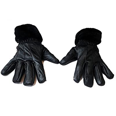 Black Leather Gloves from Good Life Stuff |gloves for women stylish |stylish gloves winter gloves for women leather | gloves for women|(GLSGL-8013)