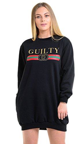 Momo&Ayat Fashions -  Felpa  - Donna Guilty - Black