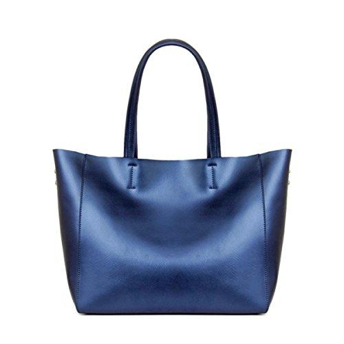 WU Zhi Lady In Pelle Spalla Borse Per La Spesa Borse Blue