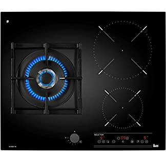 Teka IG 620 1G AI AL DR NAT Integrado Combi Negro – Placa (Integrado, Combi, Vidrio y cerámica, Negro, hierro fundido, 1600 W)