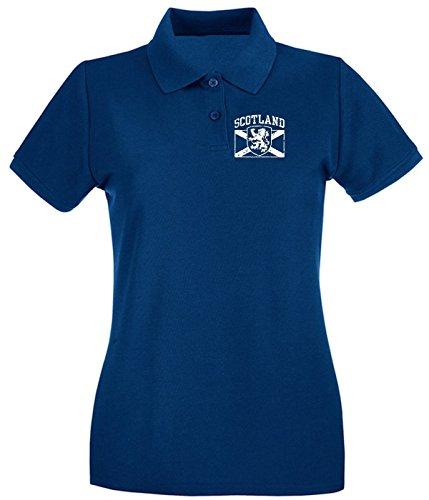 Cotton Island - Polo pour femme TSTEM0119 scotland (3) Bleu Navy