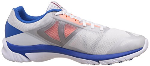 Reebok Zstrike Run, Chaussures de Running Entrainement Homme Blanc / Gris / Orange / Bleu (White / Opal / Tin Grey / Electric Peach / Blue)